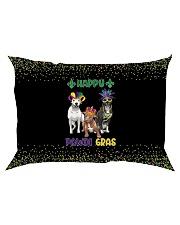 Happy Pawdi Gras Pit Bull Rectangular Pillowcase thumbnail