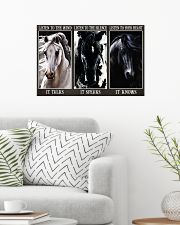 Horse Listen To Your Heart 24x16 Poster poster-landscape-24x16-lifestyle-01
