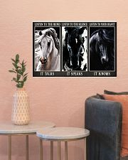 Horse Listen To Your Heart 24x16 Poster poster-landscape-24x16-lifestyle-22