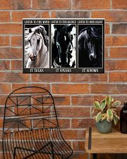 Horse Listen To Your Heart 24x16 Poster poster-landscape-24x16-lifestyle-24