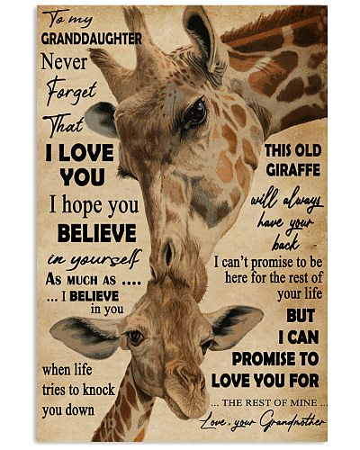 Never Forget I Love You Giraffe To Granddaughter