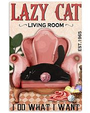 Living Room Do What I Want Cat 11x17 Poster front
