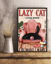 Living Room Do What I Want Cat 11x17 Poster lifestyle-poster-3
