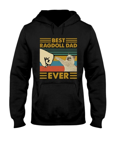 Retro Blue Ragdoll Dad Ever