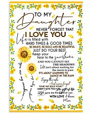 To My Daughter Never Forget Mom Loves Sunflower 11x17 Poster front