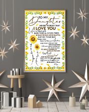 To My Daughter Never Forget Mom Loves Sunflower 11x17 Poster lifestyle-holiday-poster-1