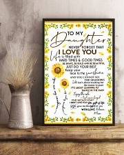 To My Daughter Never Forget Mom Loves Sunflower 11x17 Poster lifestyle-poster-3