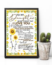 To My Daughter Never Forget Mom Loves Sunflower 11x17 Poster lifestyle-poster-8
