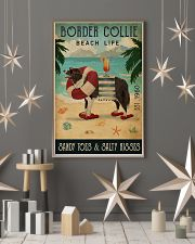 Vintage Beach Cocktail Life Border Collie 16x24 Poster lifestyle-holiday-poster-1