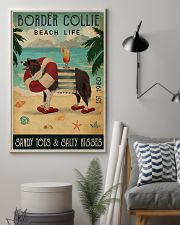 Vintage Beach Cocktail Life Border Collie 16x24 Poster lifestyle-poster-1
