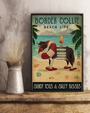 Vintage Beach Cocktail Life Border Collie 16x24 Poster lifestyle-poster-3