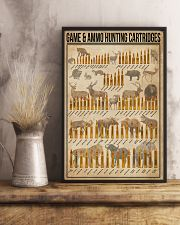 Game And Ammo Hunting Cartridges 11x17 Poster lifestyle-poster-3