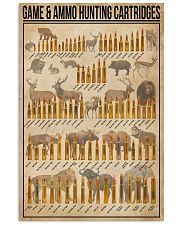 Game And Ammo Hunting Cartridges 16x24 Poster front