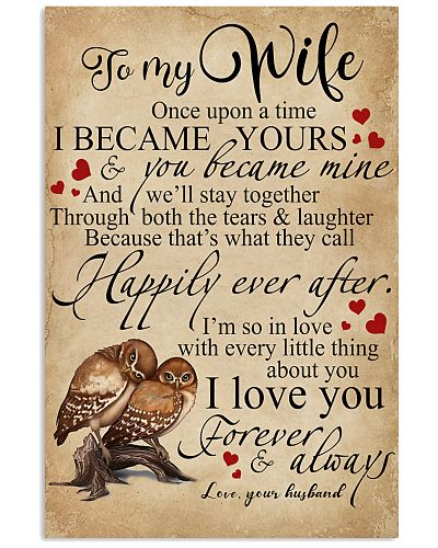 To My Wife You Became Mine Owl