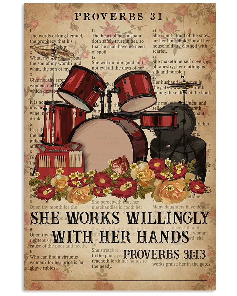 Catchphrase Works Willingly With Hand Drum 11x17 Poster