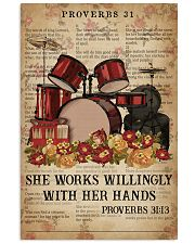 Catchphrase Works Willingly With Hand Drum 11x17 Poster front