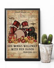 Catchphrase Works Willingly With Hand Drum 11x17 Poster lifestyle-poster-8