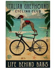 Cycling Club Italian Greyhound 11x17 Poster front