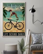 Cycling Club Italian Greyhound 11x17 Poster lifestyle-poster-1