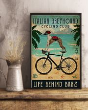 Cycling Club Italian Greyhound 11x17 Poster lifestyle-poster-3