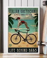 Cycling Club Italian Greyhound 11x17 Poster lifestyle-poster-4