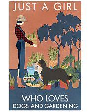 Vintage Girl Loves Gardening Bernese Mountain Dog 11x17 Poster front