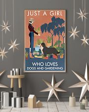 Vintage Girl Loves Gardening Bernese Mountain Dog 11x17 Poster lifestyle-holiday-poster-1
