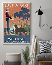 Vintage Girl Loves Gardening Bernese Mountain Dog 11x17 Poster lifestyle-poster-1