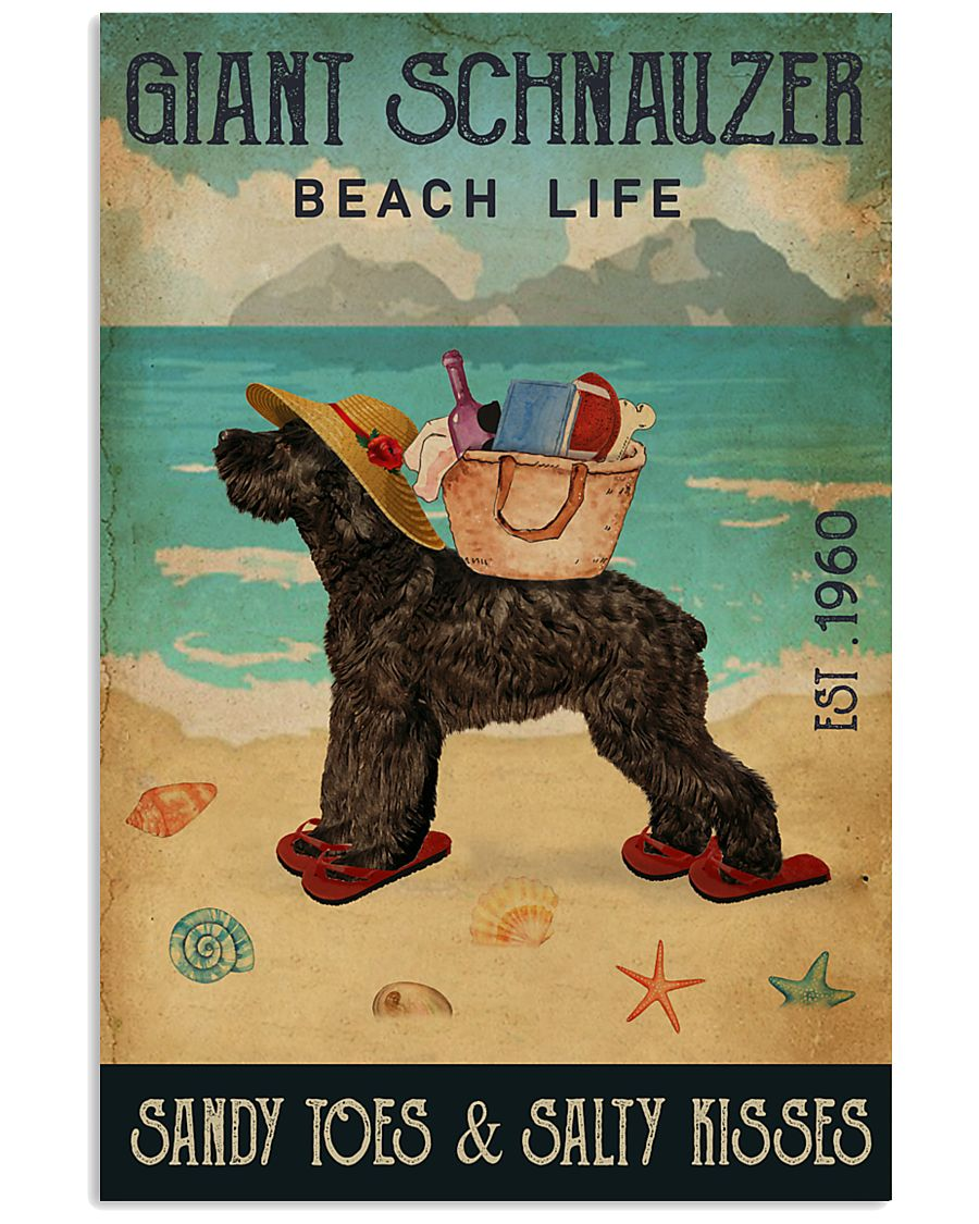 Beach Life Sandy Toes Giant Schnauzer 11x17 Poster