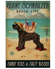 Beach Life Sandy Toes Giant Schnauzer 11x17 Poster front