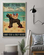 Beach Life Sandy Toes Giant Schnauzer 11x17 Poster lifestyle-poster-1