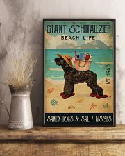 Beach Life Sandy Toes Giant Schnauzer 11x17 Poster lifestyle-poster-3