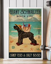 Beach Life Sandy Toes Giant Schnauzer 11x17 Poster lifestyle-poster-4