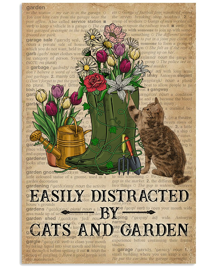 Dictionary Easily Distracted By Cats And Garden 11x17 Poster