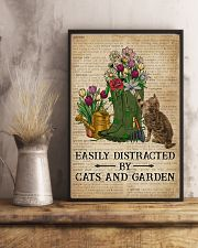 Dictionary Easily Distracted By Cats And Garden 11x17 Poster lifestyle-poster-3