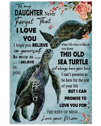 Never Forget That I Love You Sea Turtle Mother