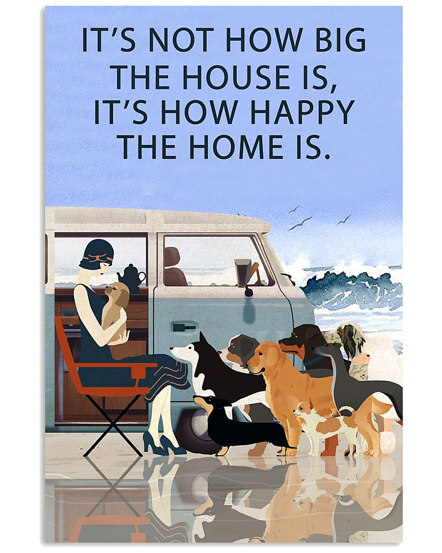 Beach Camper How Happy The Home Is 11x17 Poster
