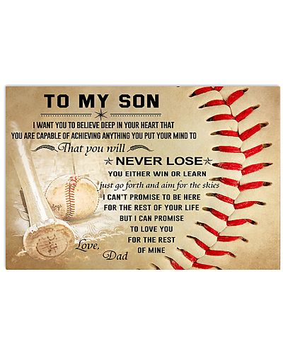 To My Son From Baseball Dad