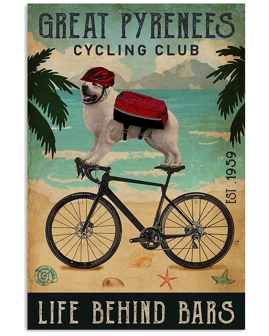 Cycling Club Great Pyrenees 11x17 Poster