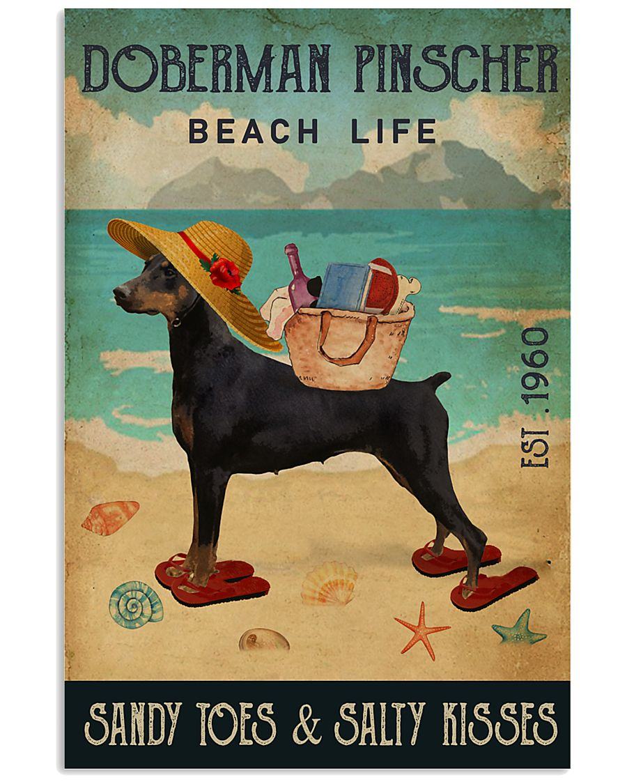 Beach Life Sandy Toes Doberman Pinscher 11x17 Poster