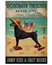 Beach Life Sandy Toes Doberman Pinscher 11x17 Poster front