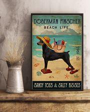 Beach Life Sandy Toes Doberman Pinscher 11x17 Poster lifestyle-poster-3