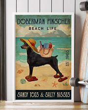 Beach Life Sandy Toes Doberman Pinscher 11x17 Poster lifestyle-poster-4