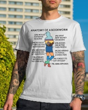 Anatomy Of A Bookworm Reading - On Sale Classic T-Shirt lifestyle-mens-crewneck-front-8