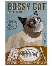 Bossy Cat Dining Room 11x17 Poster front
