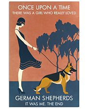 Vintage Girl Once Upon A Time German Shepherd 11x17 Poster front