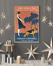 Vintage Girl Once Upon A Time German Shepherd 11x17 Poster lifestyle-holiday-poster-1