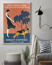 Vintage Girl Once Upon A Time German Shepherd 11x17 Poster lifestyle-poster-1