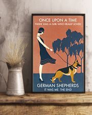 Vintage Girl Once Upon A Time German Shepherd 11x17 Poster lifestyle-poster-3