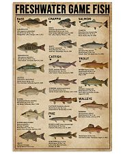 Freshwater Game Fish 11x17 Poster front